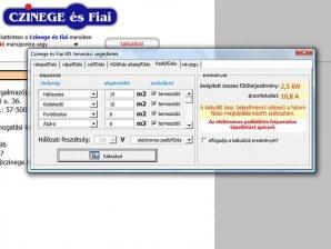 A szoftver használatával kalkulációt is készíthet